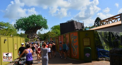 """Talk about a bottle neck - walls on both sides of the bridge to Discovery Island and the Tree of Life. Wall starts after """"Wilderness Explorers"""" that is open - and a must do if you have little ones."""