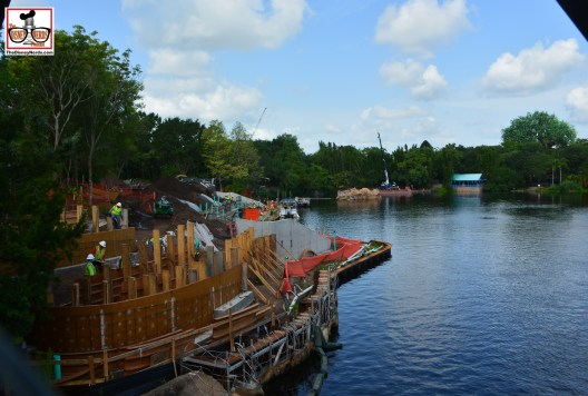 """""""Rivers of Light"""" Construction continues - Found a gap in the fence.. expedition Everest is directly behind me in this picture"""