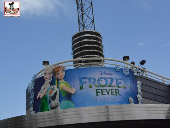 Frozen Fever - the animated short is being shown in the ABC Sound Studio