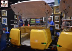 An original Disneyland People Mover car - as seen in the collector hall