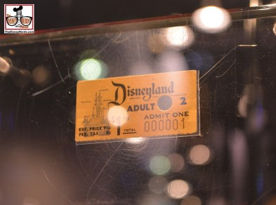 Disneyland Ticket #1 - Sold by Walt to Roy in 1955
