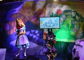 An original Alice from the Alice in Wonderland Attraction in Disneyland