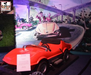 An original Autotopia Car in the Disney Archives.