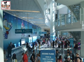 A look at the inside of the Convention Center... Lots of Lines