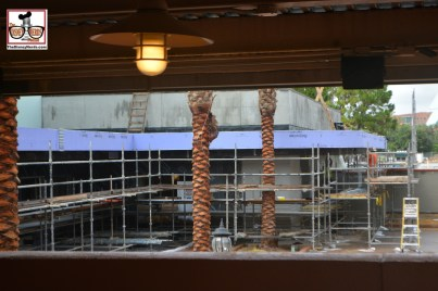"""The """"Multi Purpose"""" building is coming along nicely... as seen from the Rock and Roller Coaster Queue."""