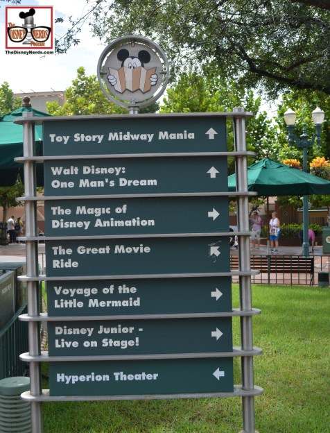 """The Magic of Animation"" is still listed on the marquee... notice ""Hyperion Theater"" was recently updated."