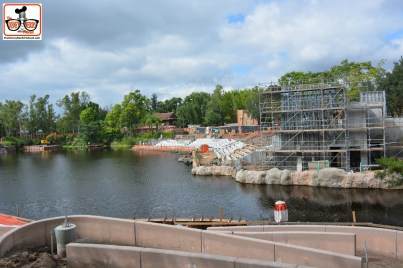 Rivers of Light construction is moving along nicely... seating area directly in front of Everest.
