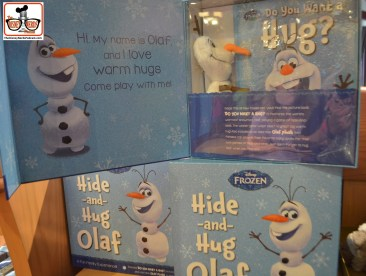 "Look out ""Elf on a shelf"" , Hide and Hug Olaf, is looking to take your job!! Located in World of Disney"