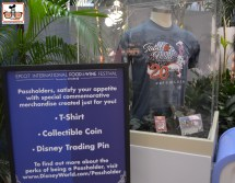 "Limited Edition ""Passholder"" merchandise... T-Shirt - Coin and Pin. All sold out when I arrived..."