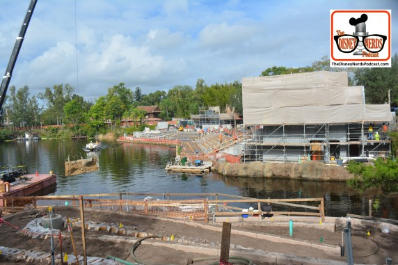 2015-12 - Animal Kingdom - Rivers of Light Construction Continues construction is starting to go up... not just on the bank of the river