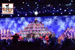 2015-12 - Epcot - The Candlelight Processional is a must see in the American Garden Theater - Here Joe Morton Narrates