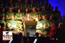 2015-12 - Epcot - The Candlelight Processional is a must see in the American Garden Theater - Here Whoopi Goldberg Narrates