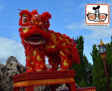 2015-12 - Epcot - Holidays Around the World in China the Chinese Lion Dancers perform the colorful Line Dance for good fortune and happiness during the new year