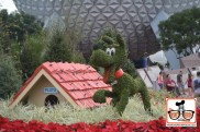 2015-12 - Epcot - Looks like some of the Flower and Garden Topiaries with a Christmas makeover.