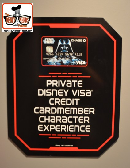 2015-12 - Hollywood Studios Launch Bay Character Meet and Greats are you a Disney Chase Credtcard holder? If so ask about the special queue for Vader