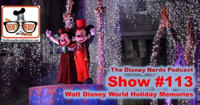 The Disney Nerds Podcast Show #118 - Walt Disney World Holiday Memories