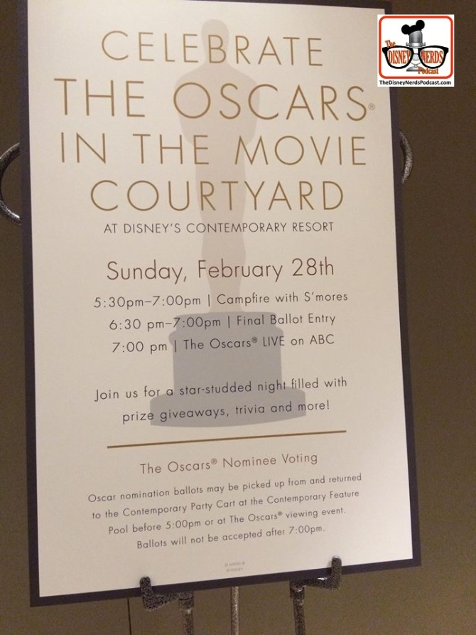 The Disney Nerds News - Oscar Night at the Contemporary Movie Courtyard