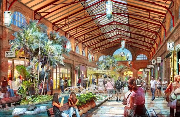 Disney Springs Town Square Concept Art
