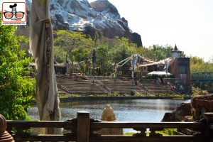 DNP April 2016 Photo Report: Animal Kingdom: Rivers of Light Might Not be ready to open - but the seating area is ready. All the Walls are down! Looks Great
