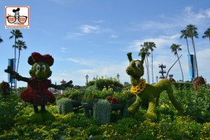DNP April 2016 Photo Report: Epcot Flower and Garden Festival. Minnie and Pluto in Showcase Plaza