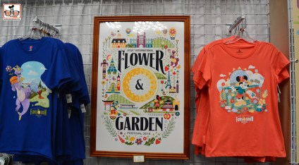 DNP April 2016 Photo Report: Epcot Flower and Garden Festival. Merchandise inside the Festival Center