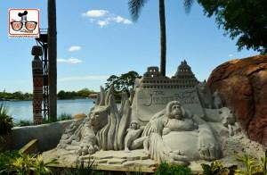 DNP April 2016 Photo Report: Epcot Flower and Garden Festival. Jungle Book Sand Sculpture
