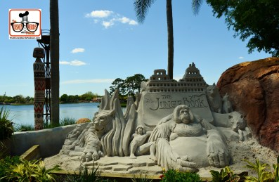 DNP April 2016 Photo Report: Epcot Flower and Garden Festival. Jungle Book Sand Sculpture