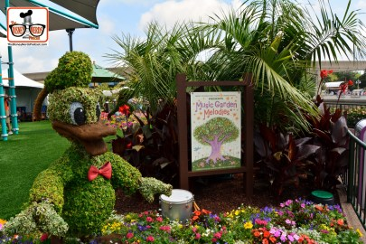 DNP April 2016 Photo Report: Epcot Flower and Garden Festival Donald in the Kids Play Area - the Harmany Garden.