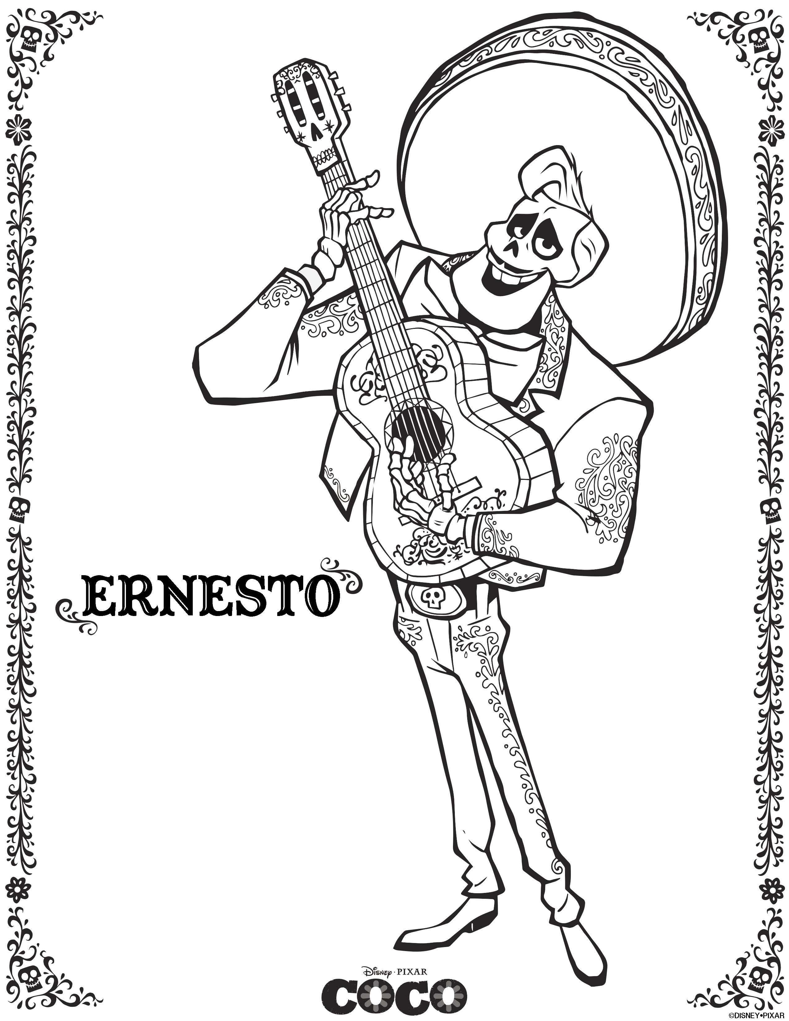 Disney Pixar\'s COCO preview with coloring pages and a family fun ...