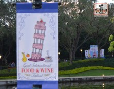 The International gateway is seen in the distance at the Food and Wine Festival