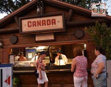 Canada Kiosk at the Epcot Food and Wine Festival