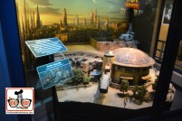 A small piece of the Galaxy's Edge Model from D23 inside Walt Disney Presents