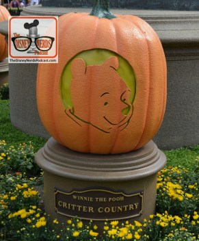 The Disneyland Hub - Complete with Pumpkins representing each of the lands. Winnie the Pooh - Critter Country