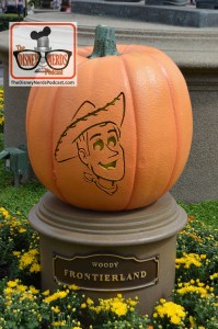 The Disneyland Hub - Complete with Pumpkins representing each of the lands. Woody - Frontierland