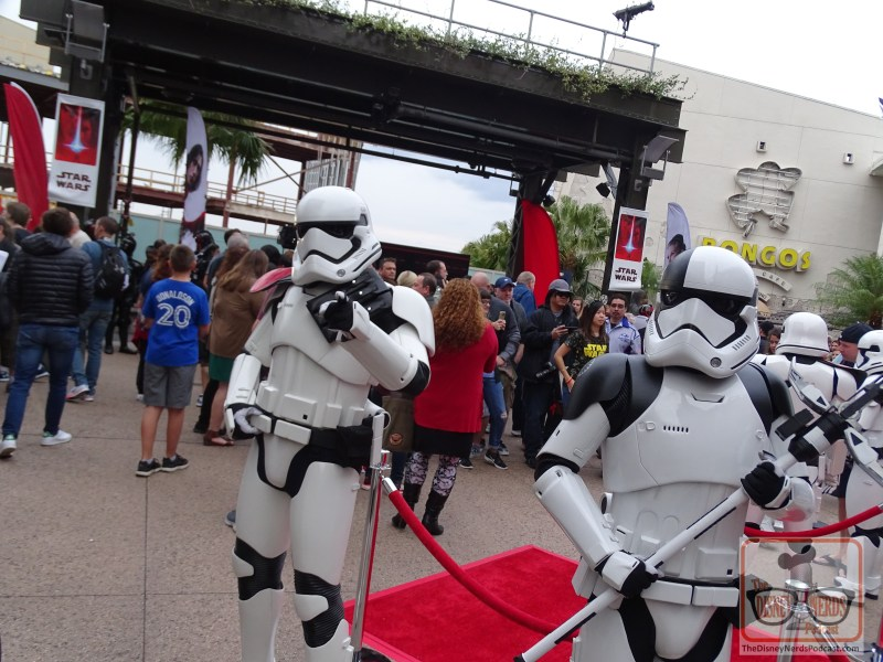 First Order Stormtroopers at Last Jedi Premiere at Disney Springs. (Photo by John Capos)