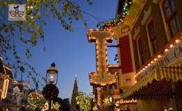 Disneyland Main Street USA During the Holiday Season