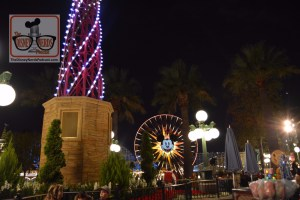 Mickey's Fun Wheel during the holidays at Disney California Adventure