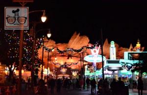 Holiday spirit at Disney California Adventure Cars Land