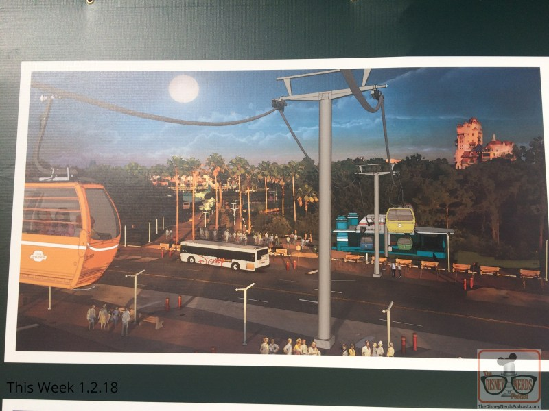 Meanwhile, back to this new month. The biggest news flash is right outside of the park with the anticipated Skyliner construction. With stations planned for connecting Disney's Caribbean Beach Resort, EPCOT, and the Hollywood Studios, there is now an image of the Gondolas (Skyliner cabins), the route and more details about the project posted on the construction wall near the Studio's main entrance. Be sure to take a look. No doubt amazing panoramic views and aerial perspectives await future Skyliner passengers.