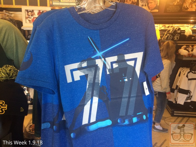 """Visit Legends Of Hollywood Theater on Sunset Blvd for a brand new shipment of Star Wars goodies. From original trilogy shirts to porgs sweaters, new items await shoppers. Be sure to look for the """"These are not the droids"""" mugs and take a few home."""