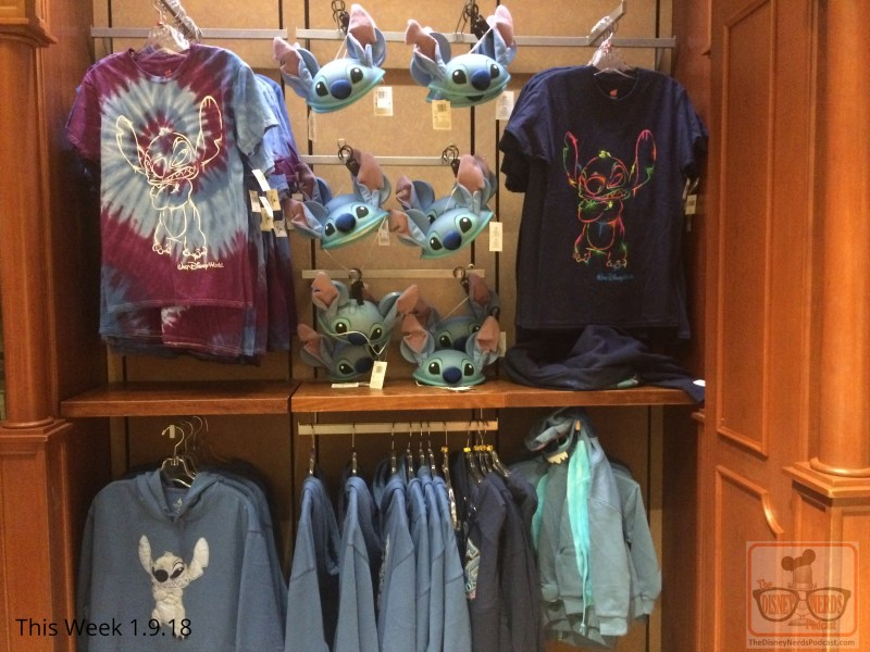 Hold on - more Disney merchandise news. At the Carthay Circle, Santa Clause meet and greet is now completely packed up and headed back to the North Pole. In its place the Beauty and the Beast merchandise is back on store shelves. Also, with the retreat of Christmas ornaments, Stitch has appeared with cool light up fidget and spinner toys. Don't forget a 2018 key chain, if you still have money left!