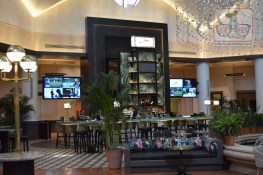 The New WDW Dolphin Lobby after the late 2017 remodel featuring a new lobby bar - Phins