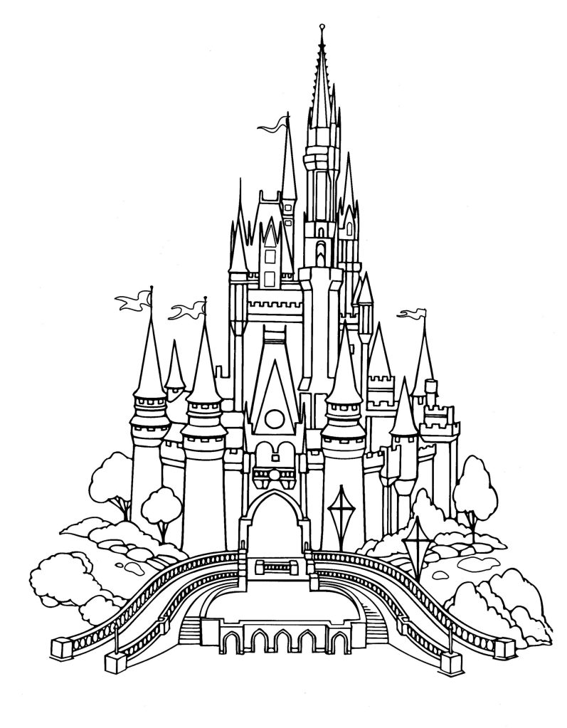 Magic Kingdom Florida Coloring Pages - Coloring Home | 1023x797