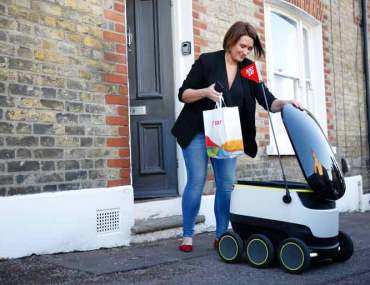 Just Eat and Starship Technologies Launch Robot That Delivers Food