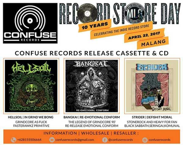 Confuse Records Release 3 Albums on Record Store Day 2017
