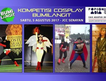 Indonesian Superhero Character in BumiLangit Cosplay Competition