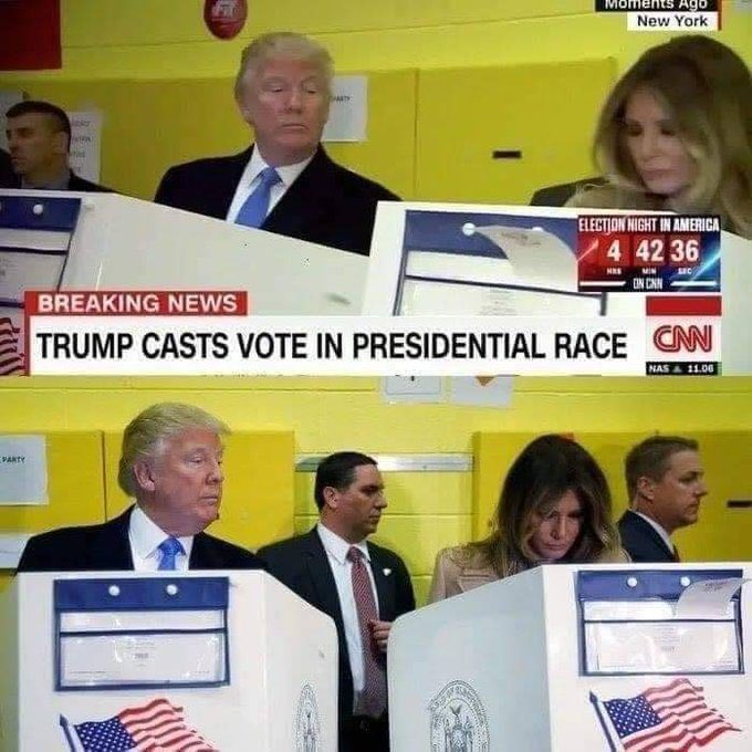 Photos: Donald Trump Glancing On Melania As She Cast Her Vote. 4
