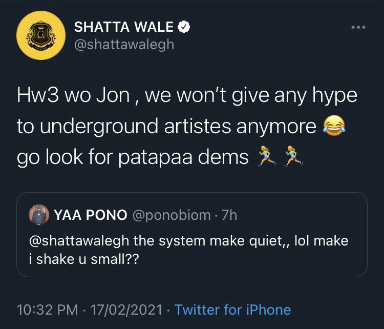Shatta Wale Delete Post After Dissing Yaa Pono, Check Out What He Said 2