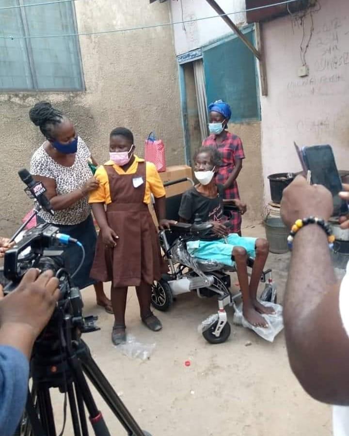 Georgina Yawa Ankrah: The Rebecca Foundation Donates To Crippled Woman And Her Disable Kids | Video Photos 5