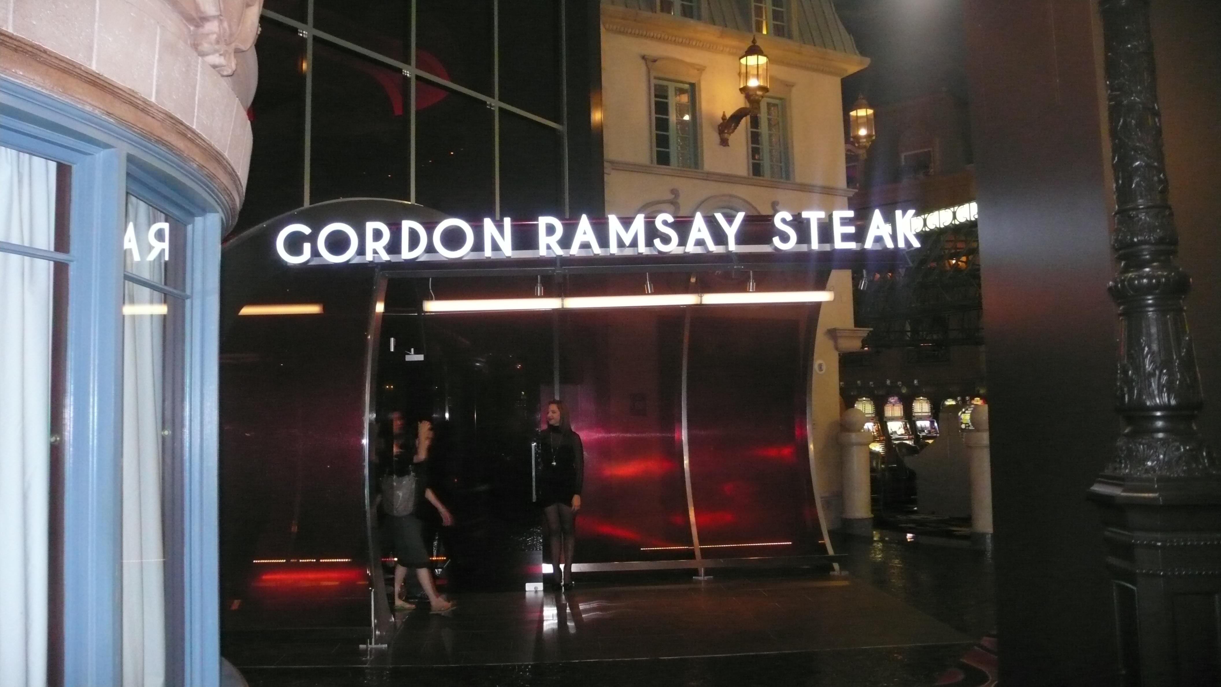 The Divine Dish  Dinner at Gordon Ramsay Steak Paris Las